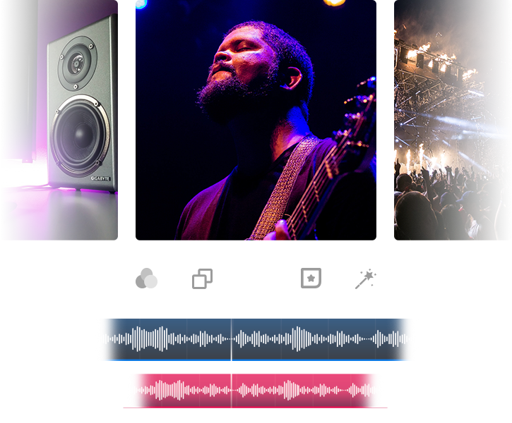 Appnap add music to video app